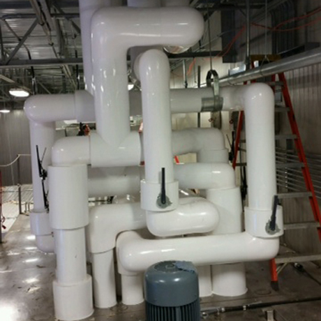 Pipe Insulation in a Mechanical Room